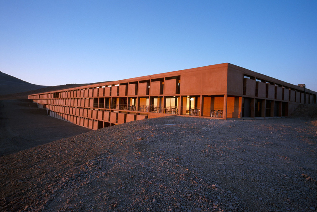 The Paranal Residencia, in the Chilean Atacama Desert in March 2002.