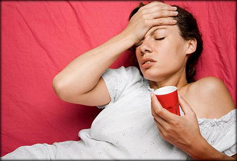 Woman with headache   Original Filename: 86059494.jpg