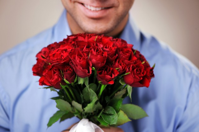 Man-with-Roses