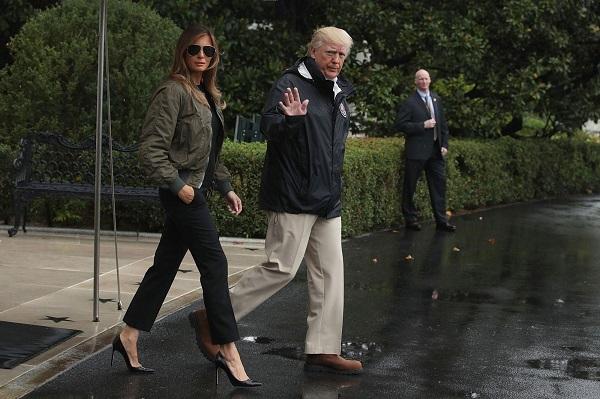 President Trump Departs White House En Route To Texas